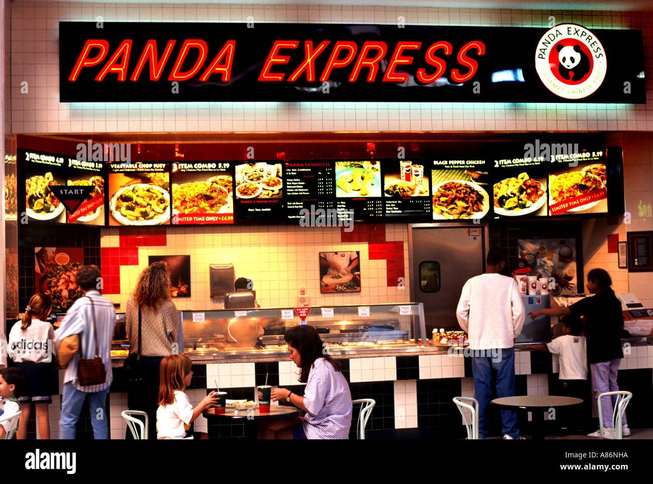 Austin Texas Panda Express Fast Food United States Stock Photo