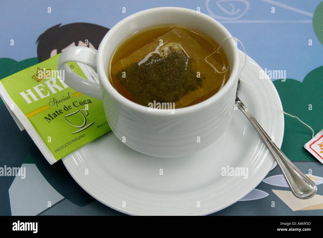 Coca tea Stock Photo: 3919708 - Alamy