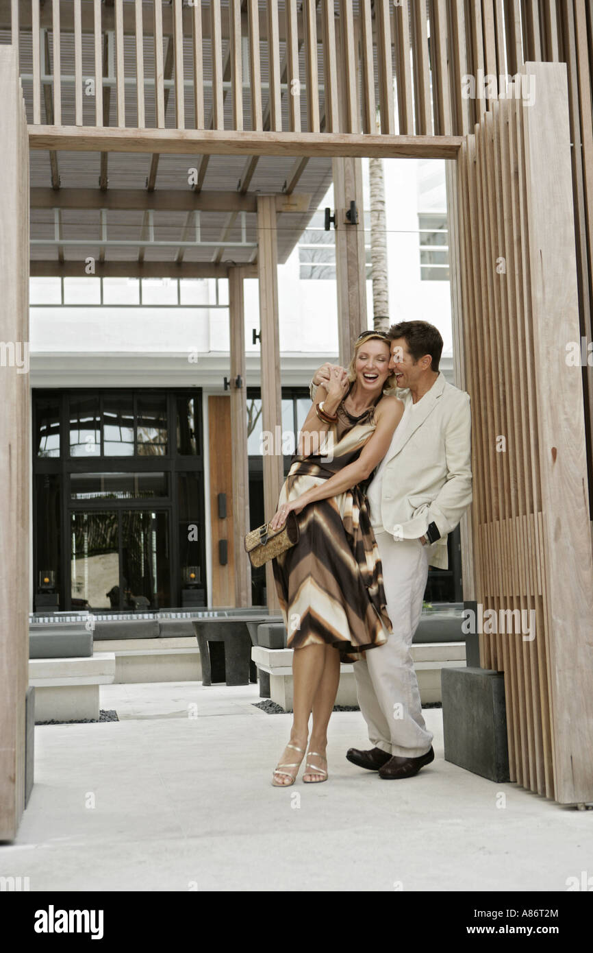 View of a happily couple. Stock Photo