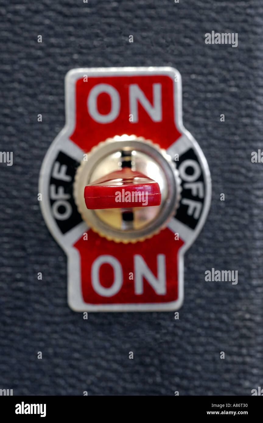 Toggle switch  - Stock Image