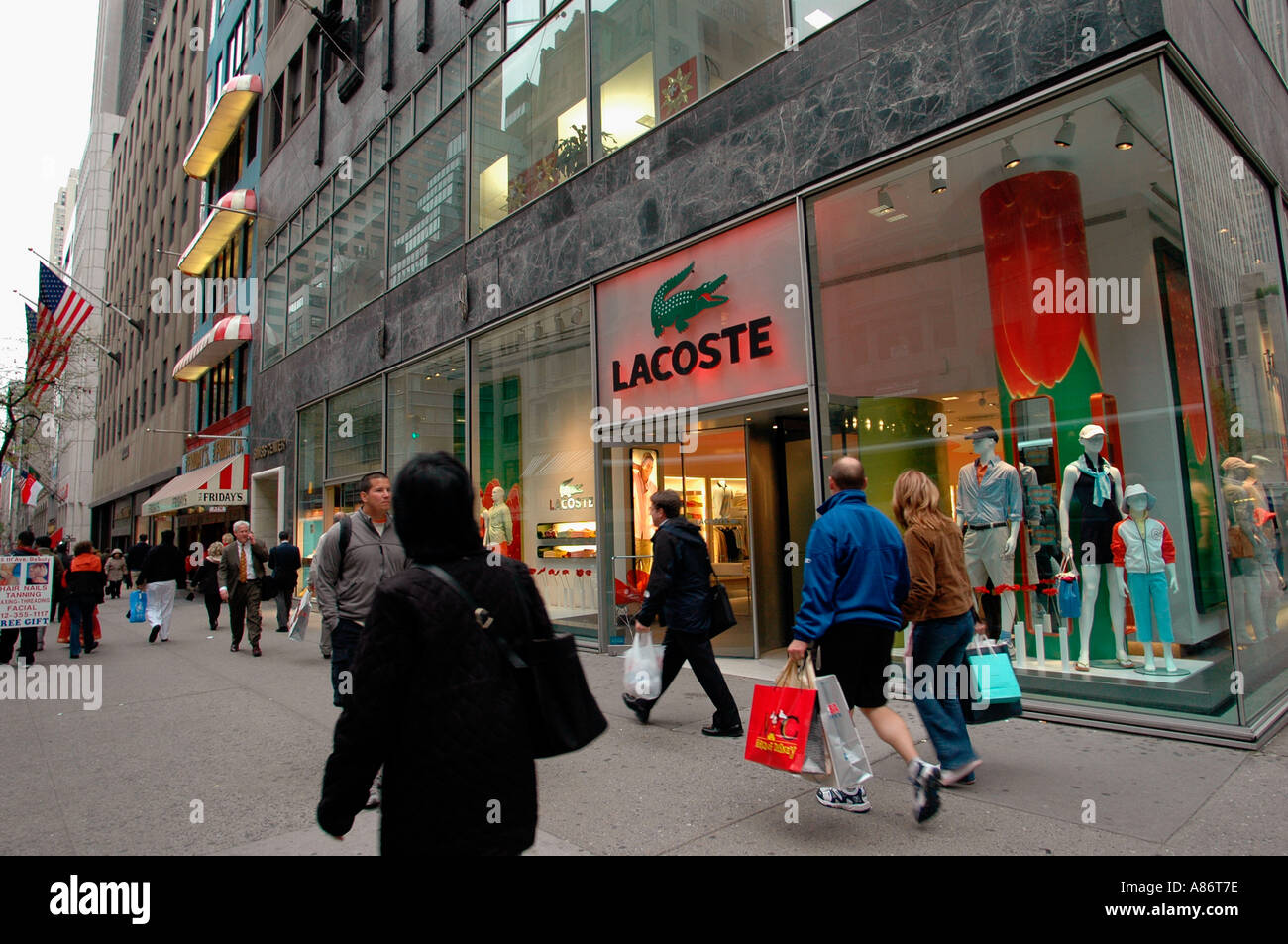 bcebac44a3fbbc Lacoste store on Fifth Avenue in New York City Stock Photo  3919997 ...