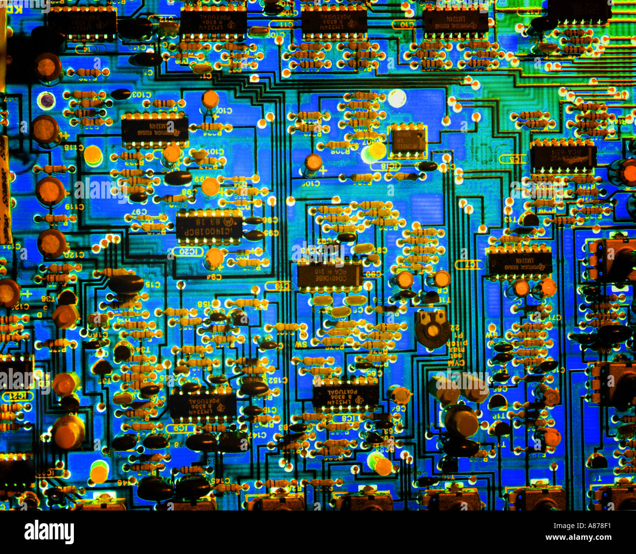 Integrated Circuit Board - Stock Image