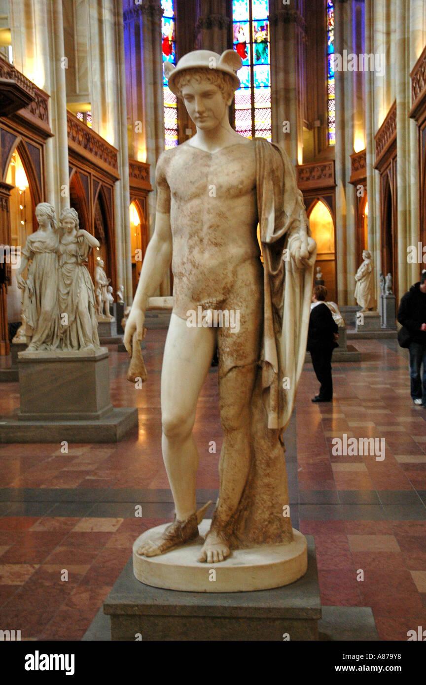 Antique statue of Hermes (Roman 5th Cent BC. Friedrichswerdersche Kirche Berlin.Germany - Stock Image