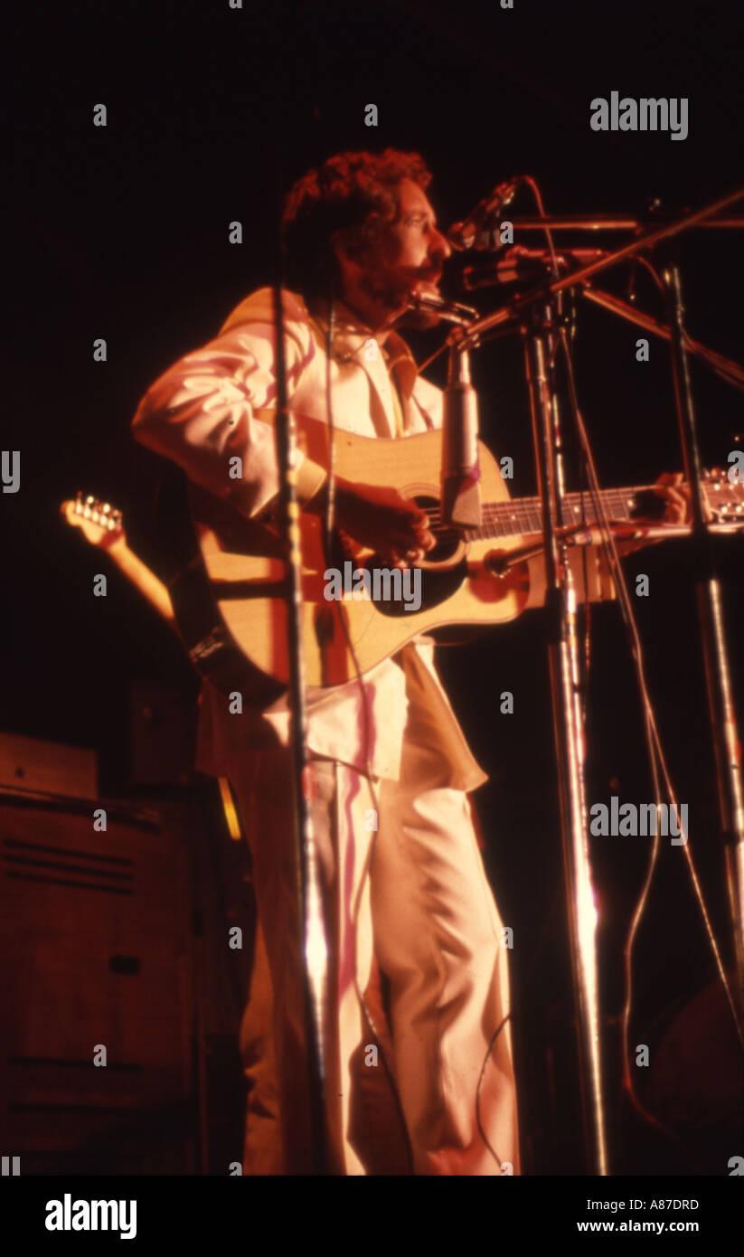 BOB DYLAN at Isle of Wight Festival 31 August 1969 - Stock Image