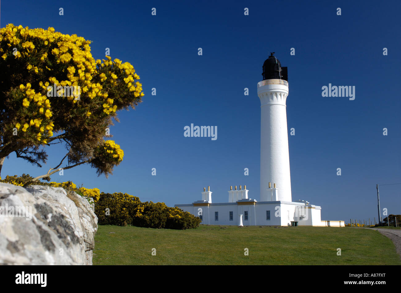 Covesea Skerries Lighthouse Lossiemouth Moary Grampian Region Scotland - Stock Image