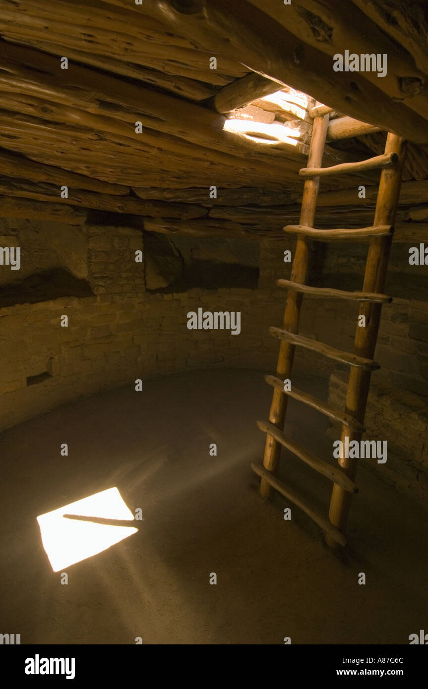 Spruce House Ruins, Mesa Verde National Park, Colorado, Well-preserved Anasazi-Puebloan village - Stock Image