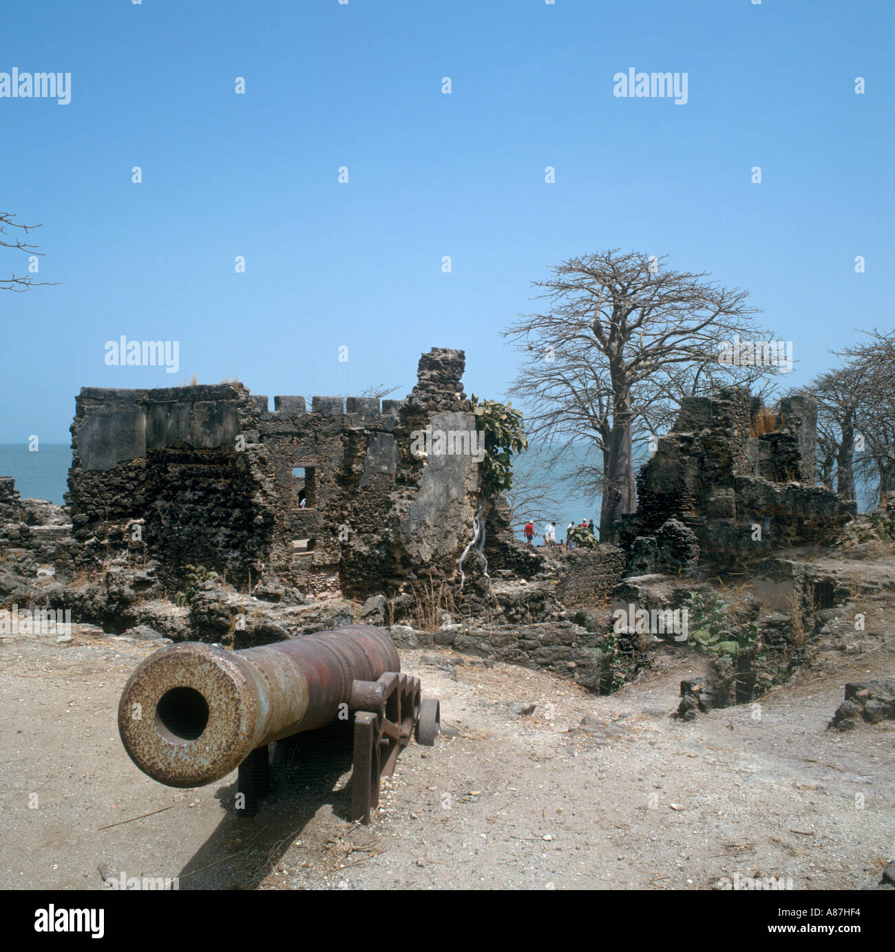 Fort on James Island, Roots Excursion, The Gambia, West Africa - Stock Image