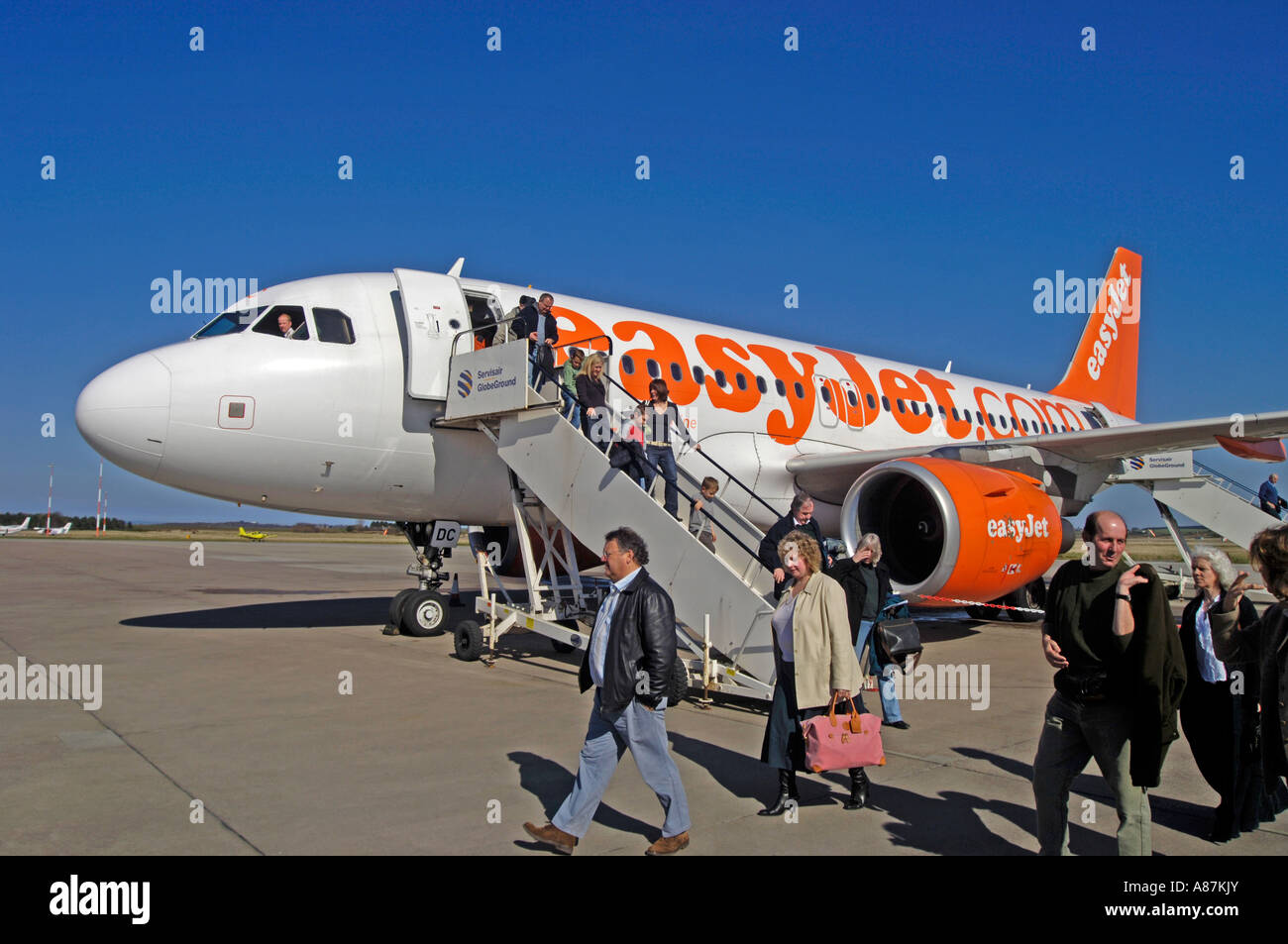 Easyjet Boeing 737-700 Passenger Civil Twin Engined Airliner - Stock Image