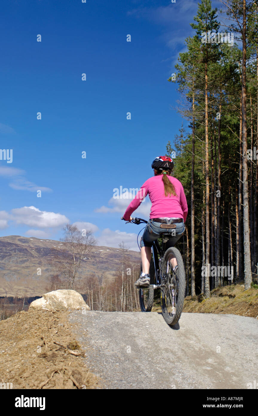 Mountain Biking Centre for all ages Inverness-shire Highlands Stock Photo