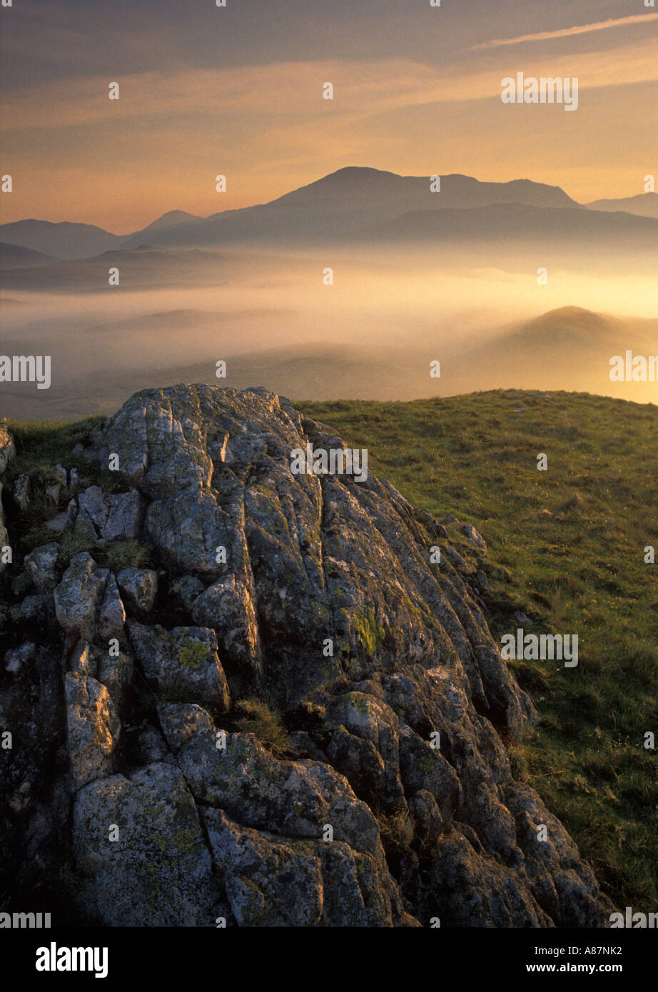 Eskdale at dawn nr Boot Cumbria England UK - Stock Image