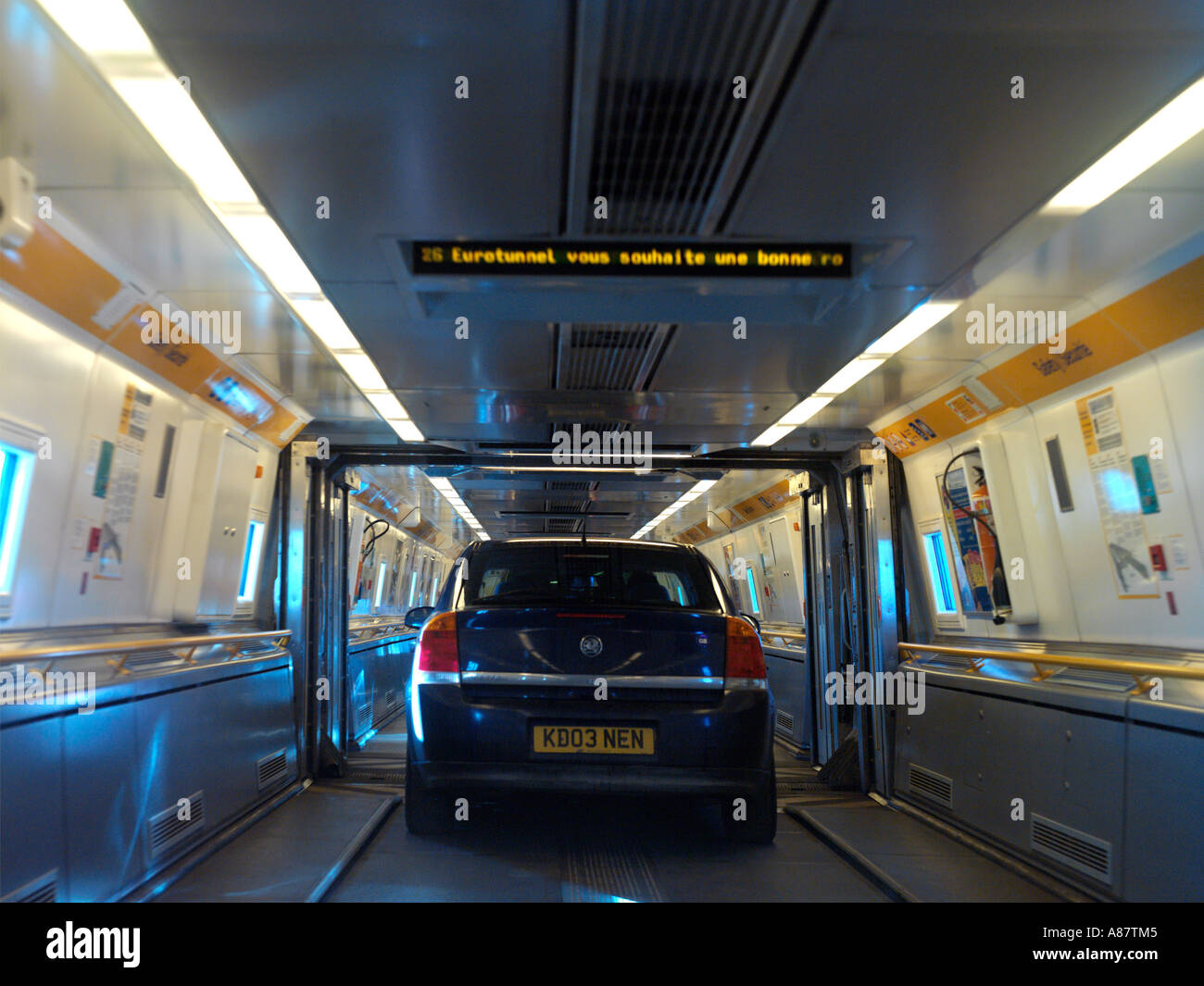 Eurotunnel Cars Onboard Shuttle Train Stock Photo 6866244 Alamy