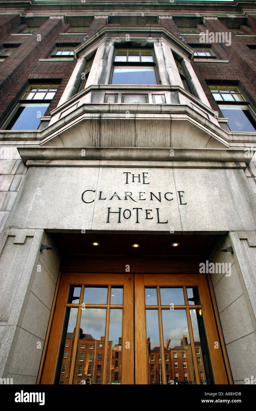 The Clarence Hotel in Dublin owned by U2 band members Bono and The Edge - Stock Image