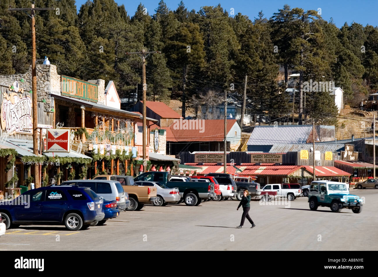 The Pretty Mountain Town of Cloudcroft, New Mexico Stock