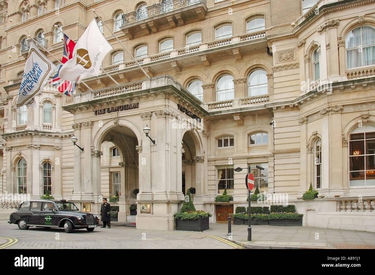 Langham Hotel luxurious, historical architecture, London,  Great Britain, UK, England, GB, Europe, EU - Stock Image