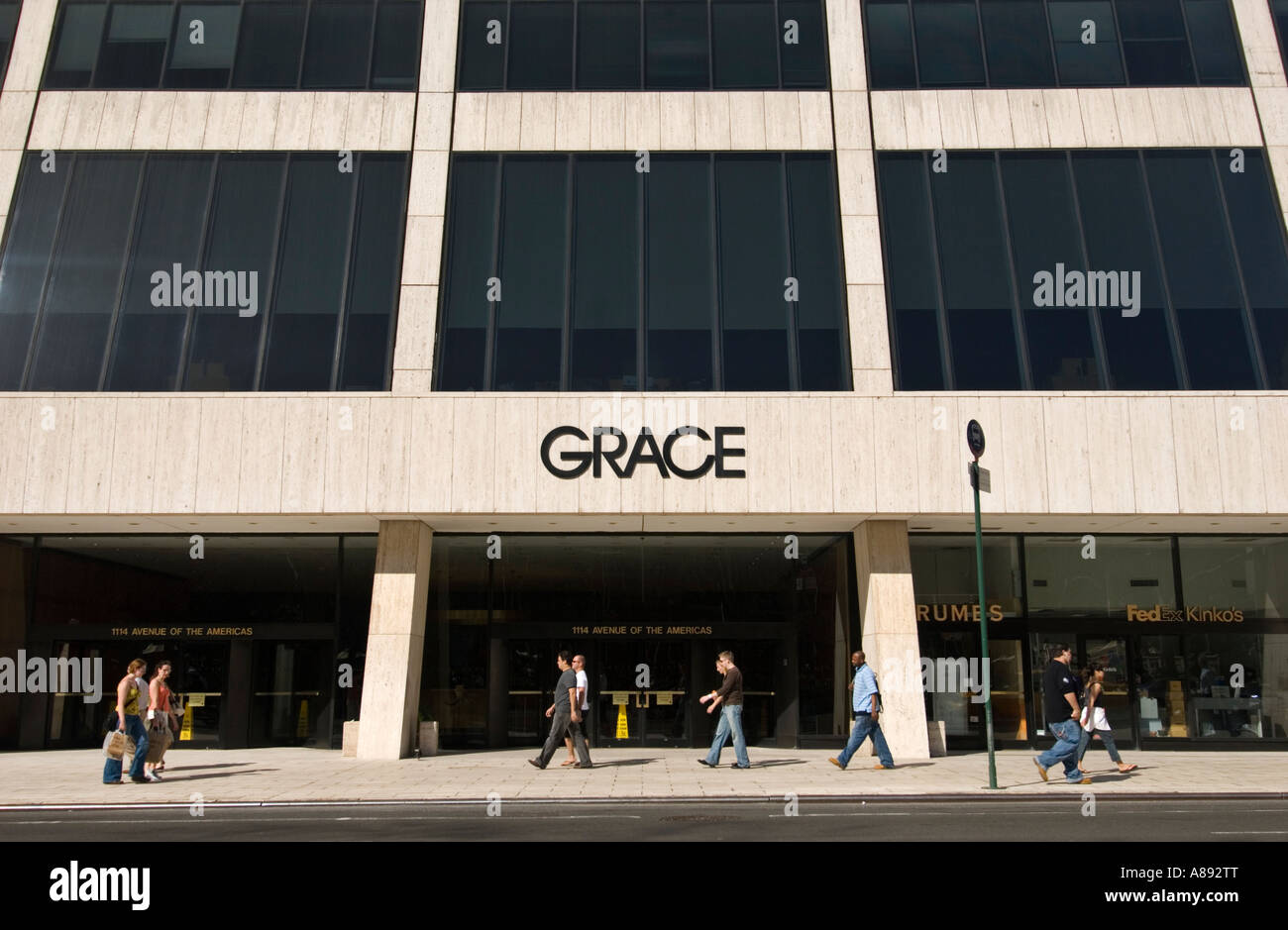 W.R. Grace Building in Manhattan - Stock Image
