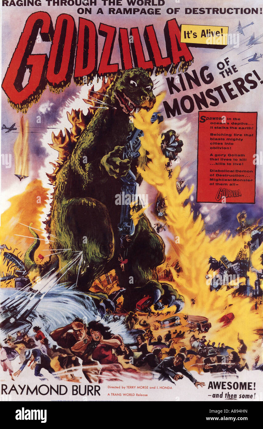 GODZILLA KING OF THE MONSTERS ! poster for 1956 Toho film Stock Photo
