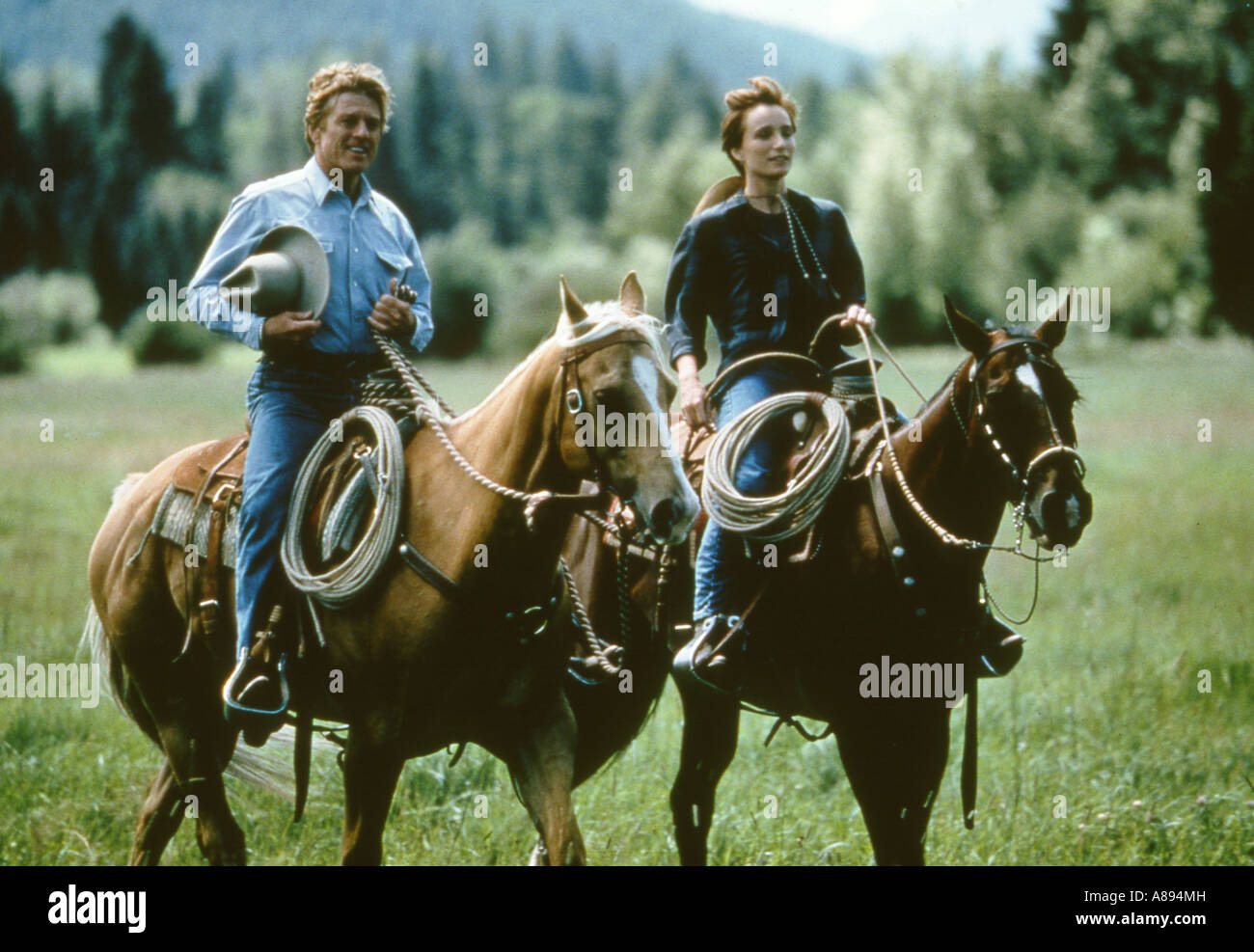 The Horse Whisperer 1998 Buena Vista Film With Robert Redford And Stock Photo Alamy