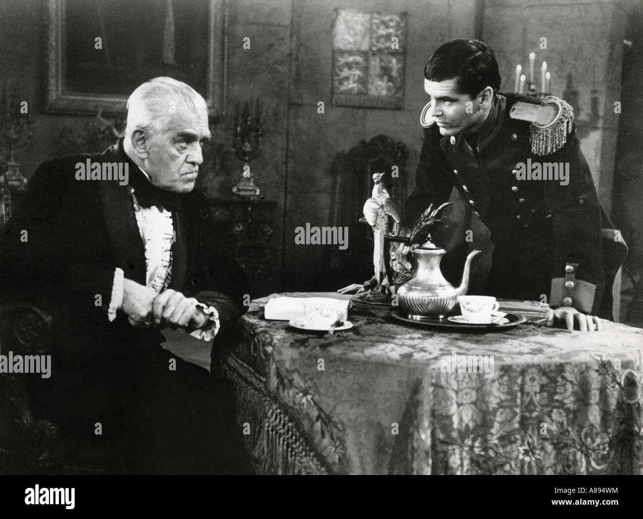 THE TERROR 1963 AIP film with Boris Karloff and Jack Nicholson (at right). Aka The Castle of Terror - Stock Image