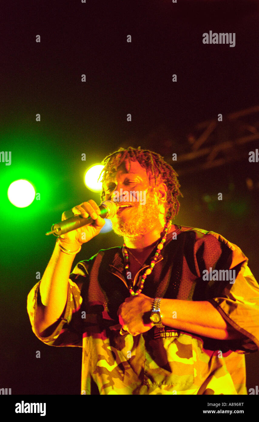 Horace Andy playing at the essential festival 2002 with his own band Horace Andy is also known for his singing on - Stock Image