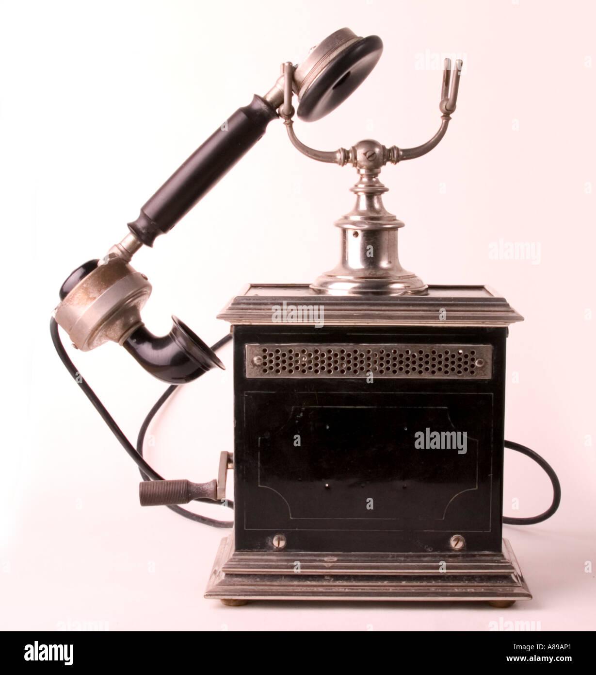 Old telephone (1900) - Stock Image