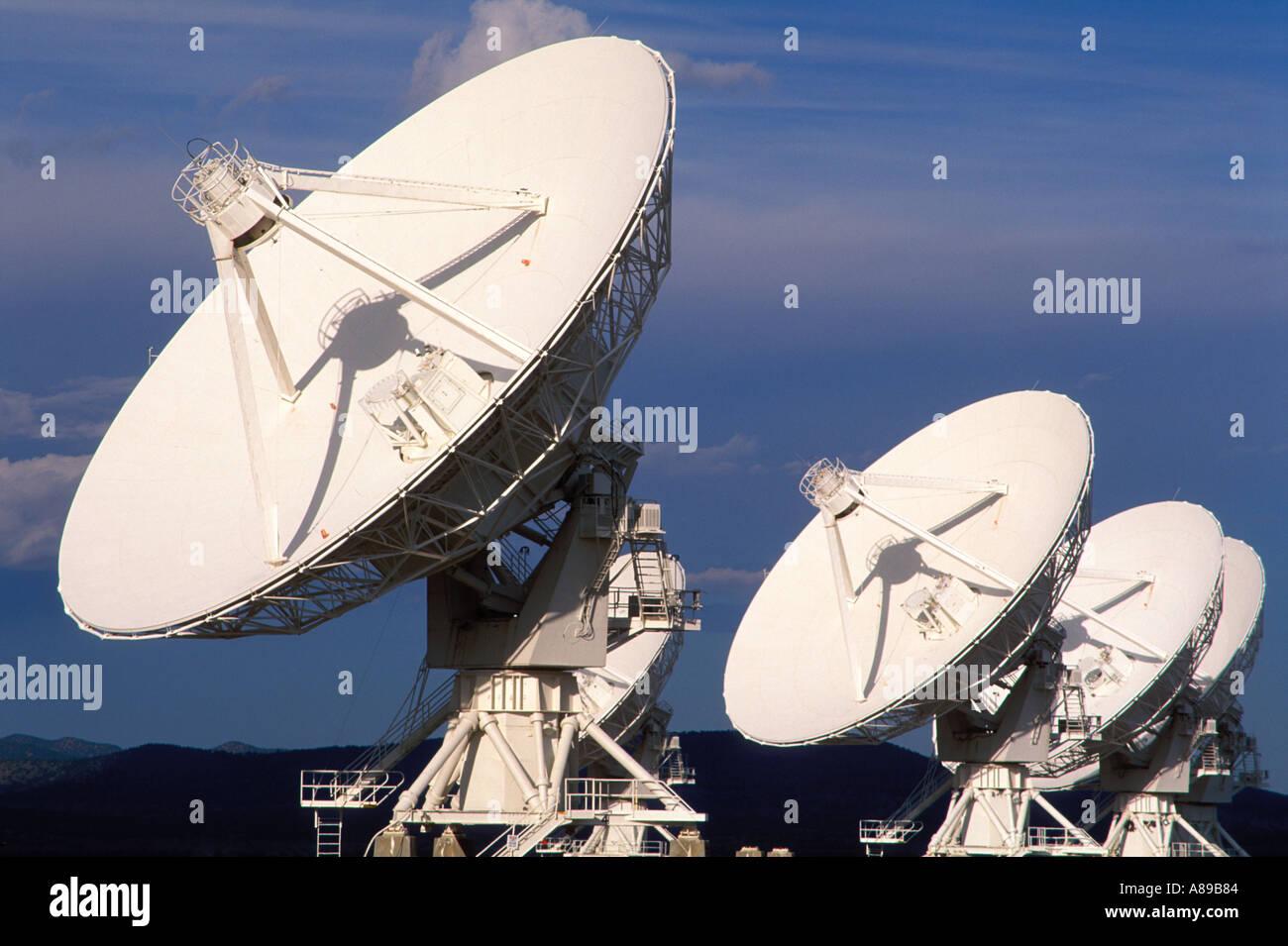 USA New Mexico Socorro Very Large Array worlds largest radio telescope VLA - Stock Image