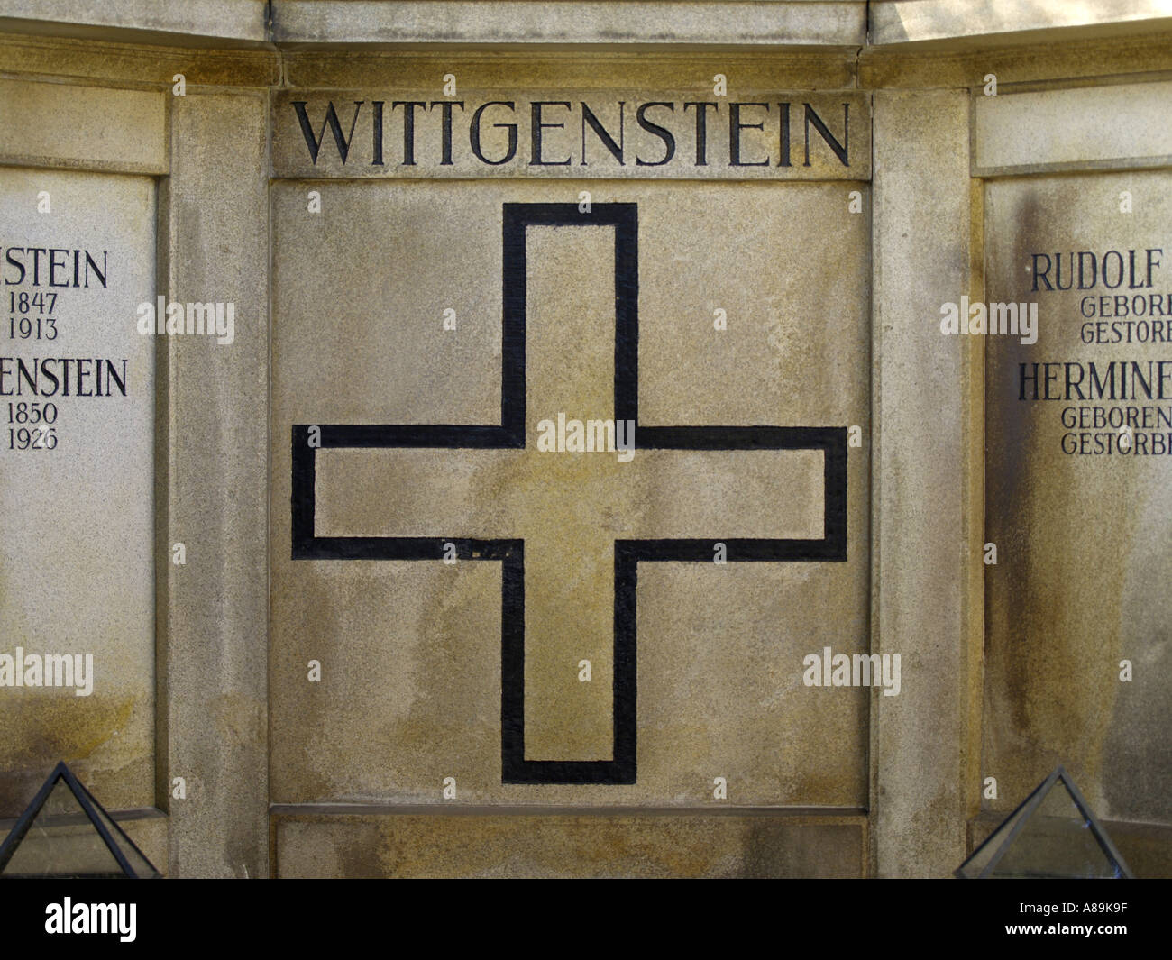 Vienna, central cemetery grave of Ludwig Wittgenstein - Stock Image