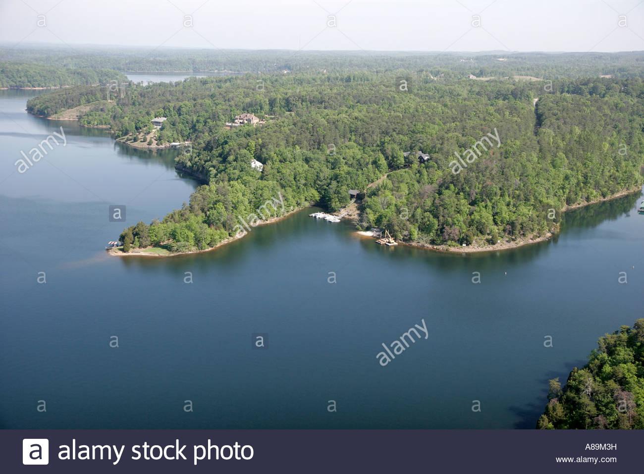 Tuscaloosa Alabama Lake Tuscaloosa aerial - Stock Image