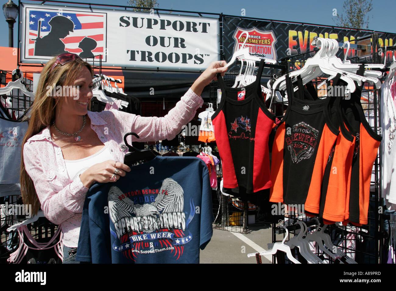 cb1cddf2f Daytona Beach Florida US 1 Destination Daytona Bike Week Support Our Troops  promotion clothing