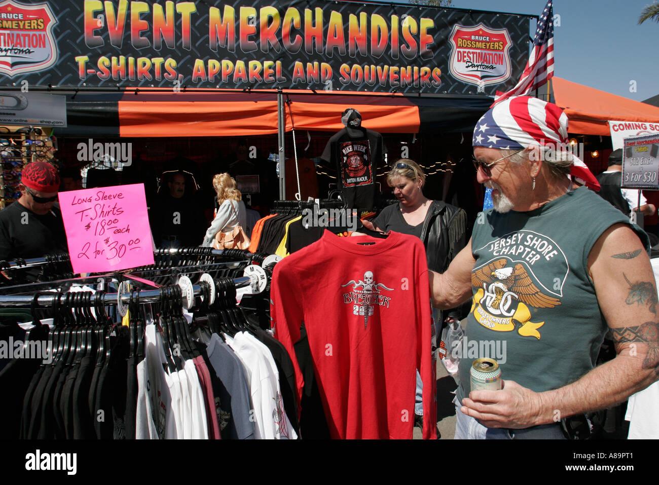 188a4bb32 Daytona Beach Florida US 1 Destination Daytona Bike Week vendors shopping  clothing
