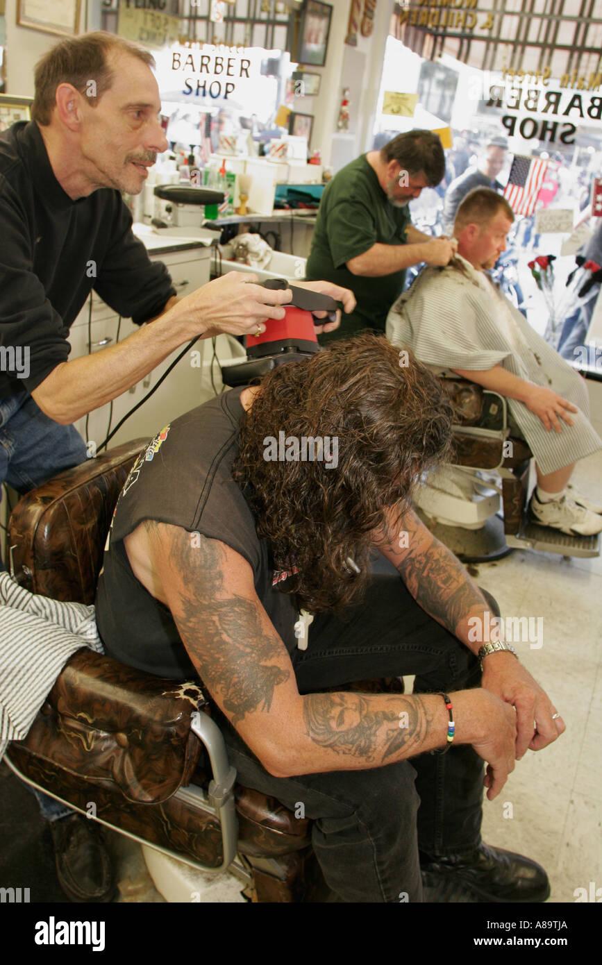 Daytona Beach Florida Main Street Barber Shop Bike Week massage ...
