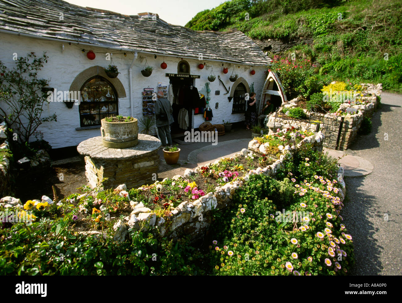 Cornwall Boscastle the Harbour Light cafe pre flood Stock Photo