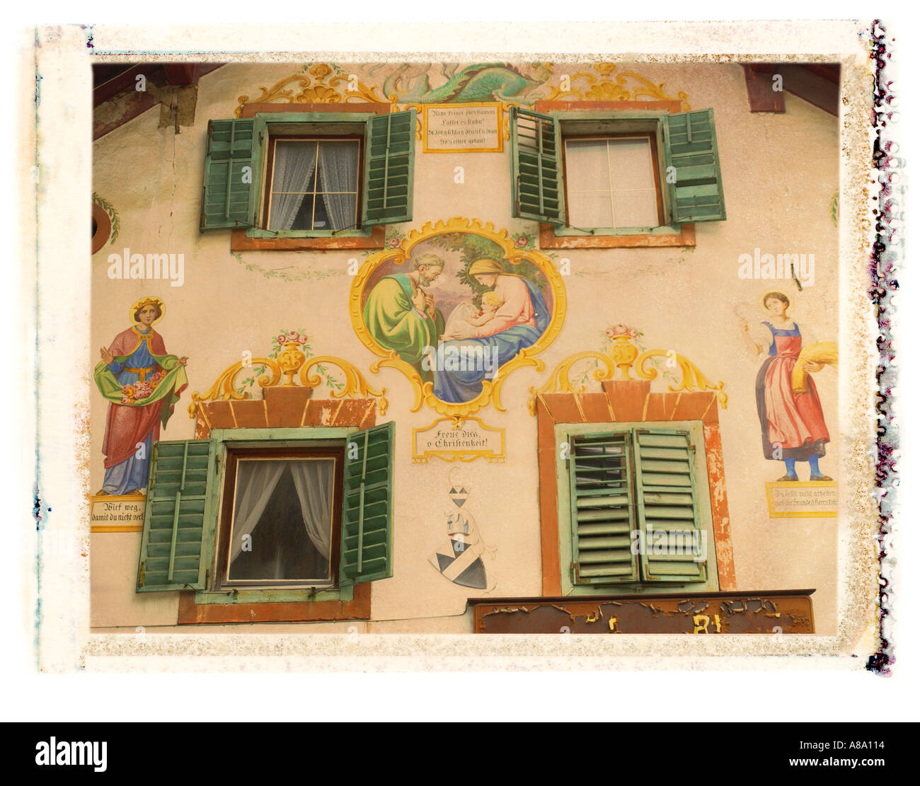 Murals on building Austria - Stock Image