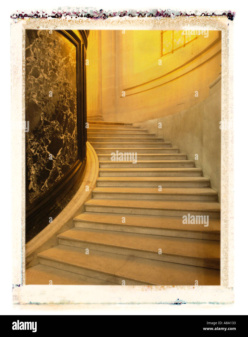 Stairway in Paris France Dome Church - Stock Image