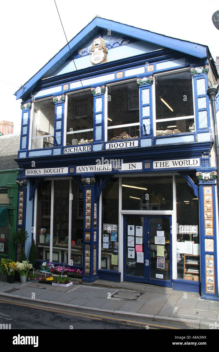 Richard Booth's Bookshop in Hay on Wye, Wales - Stock Image