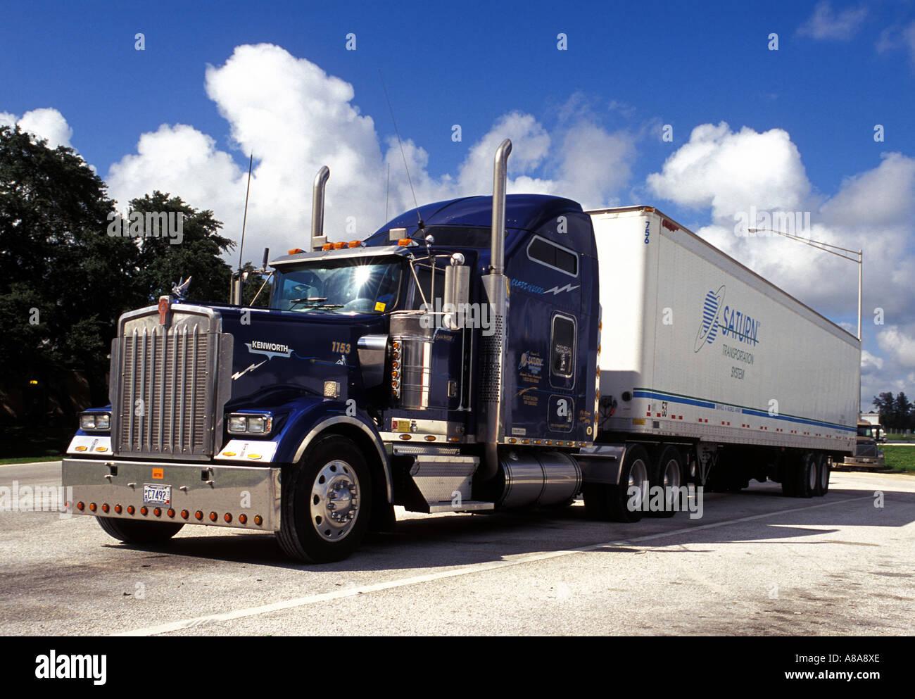 Kenworth truck USA - Stock Image