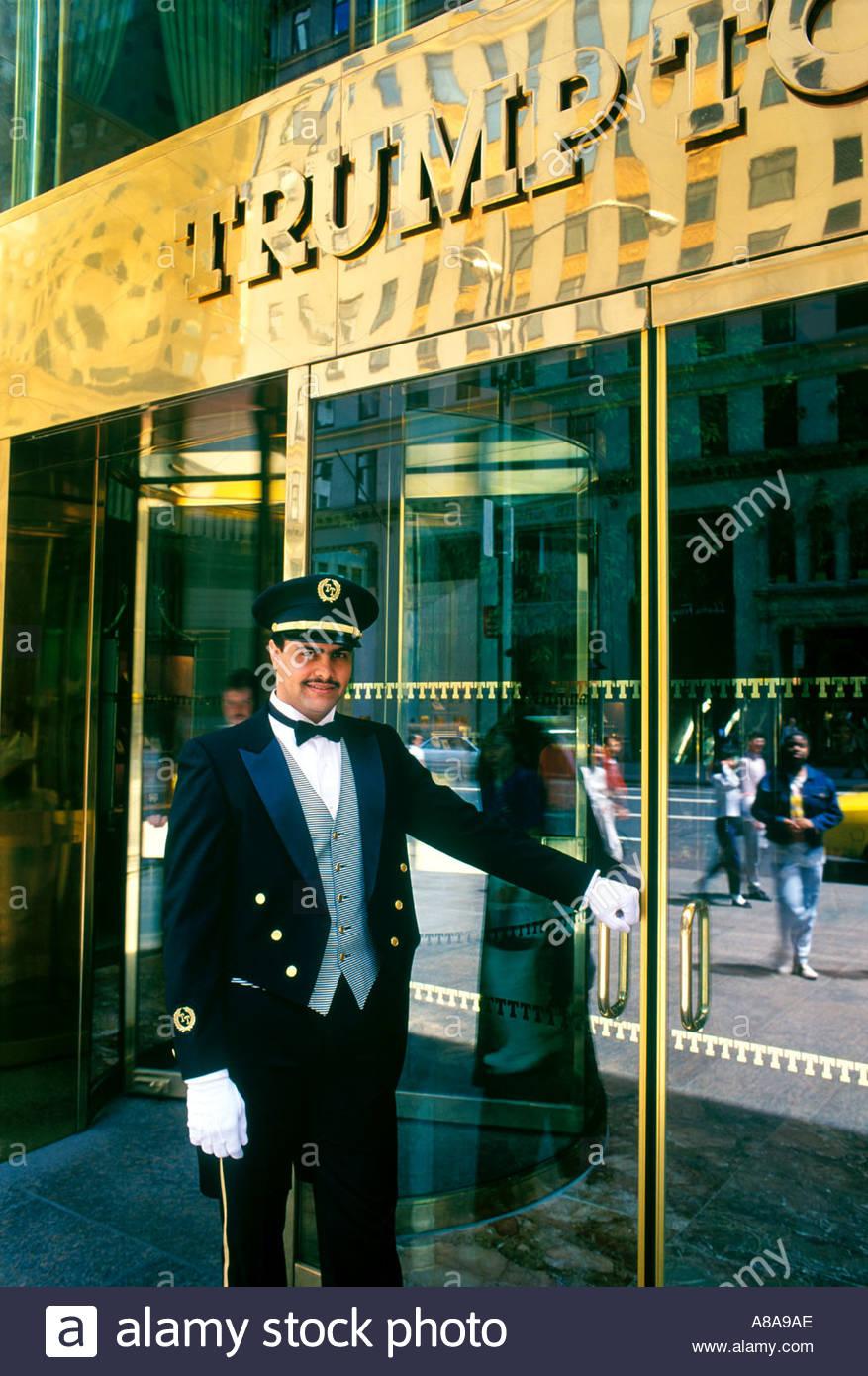 This Doorman is waiting to open the door for you at Donald Trumps New York City & Doorman New York Stock Photos \u0026 Doorman New York Stock Images - Alamy