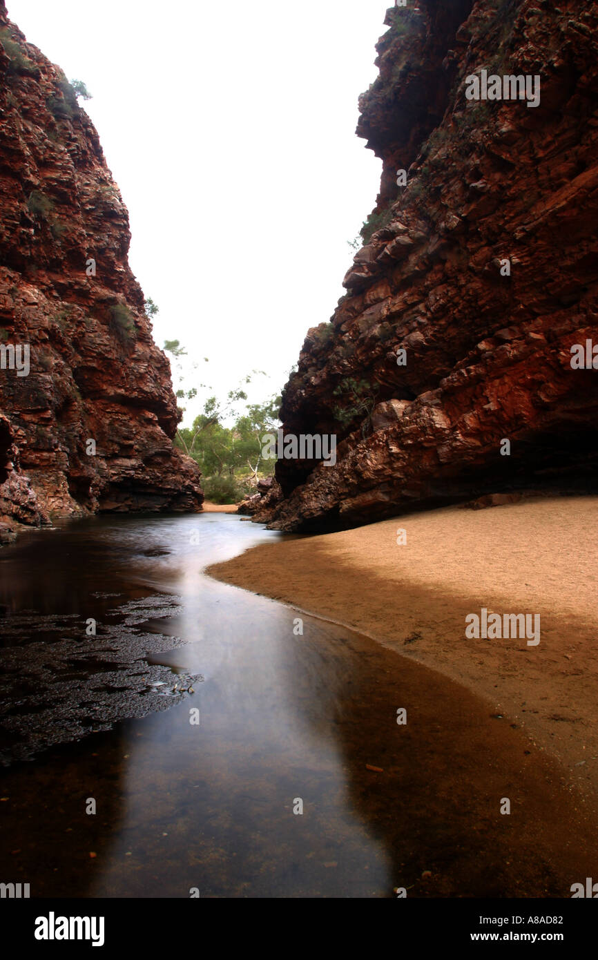 Simpson's Gap in the Macdonnell range in Central Australia - Stock Image