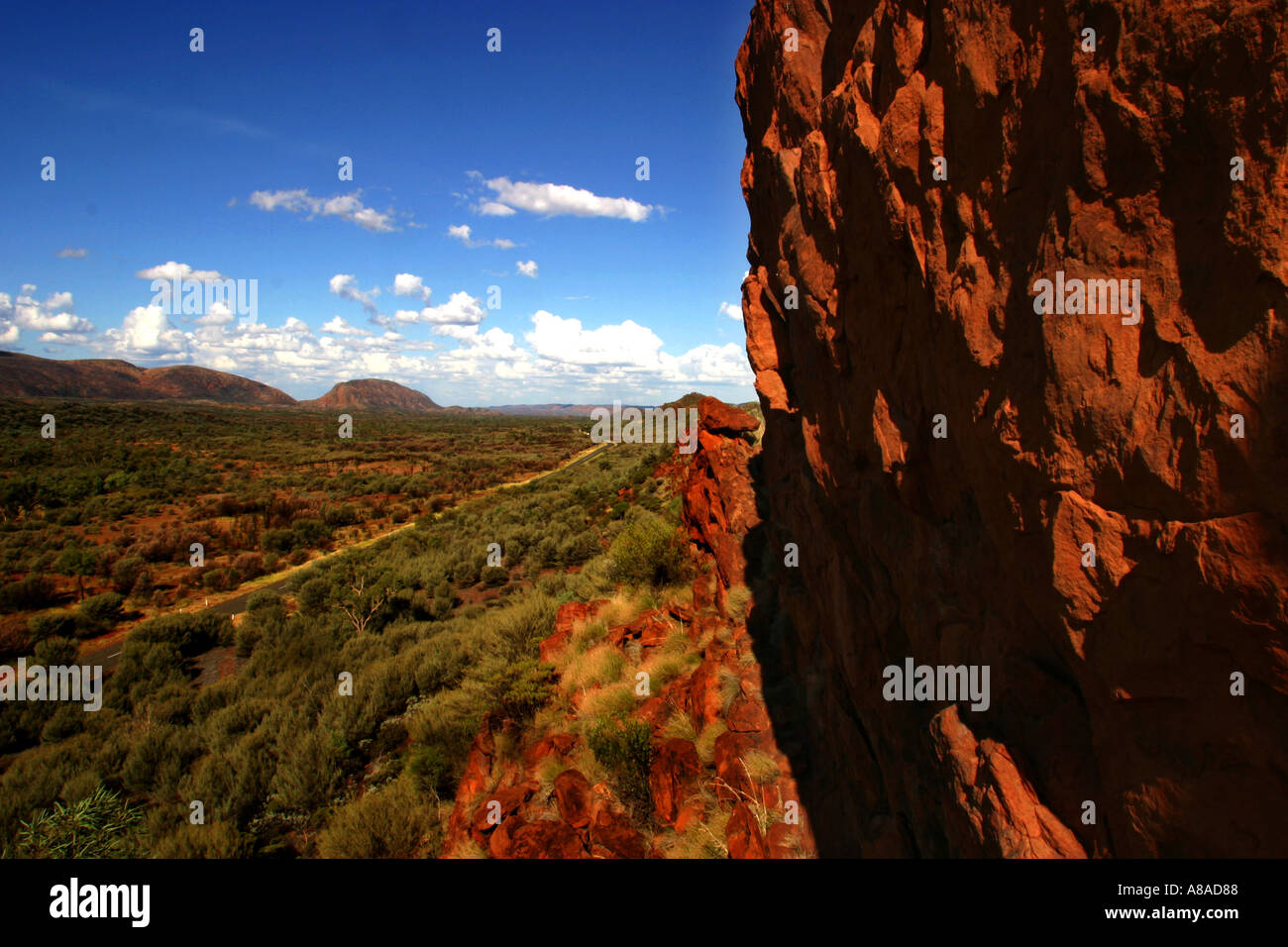 Macdonnell range in the Central Australian outback. - Stock Image