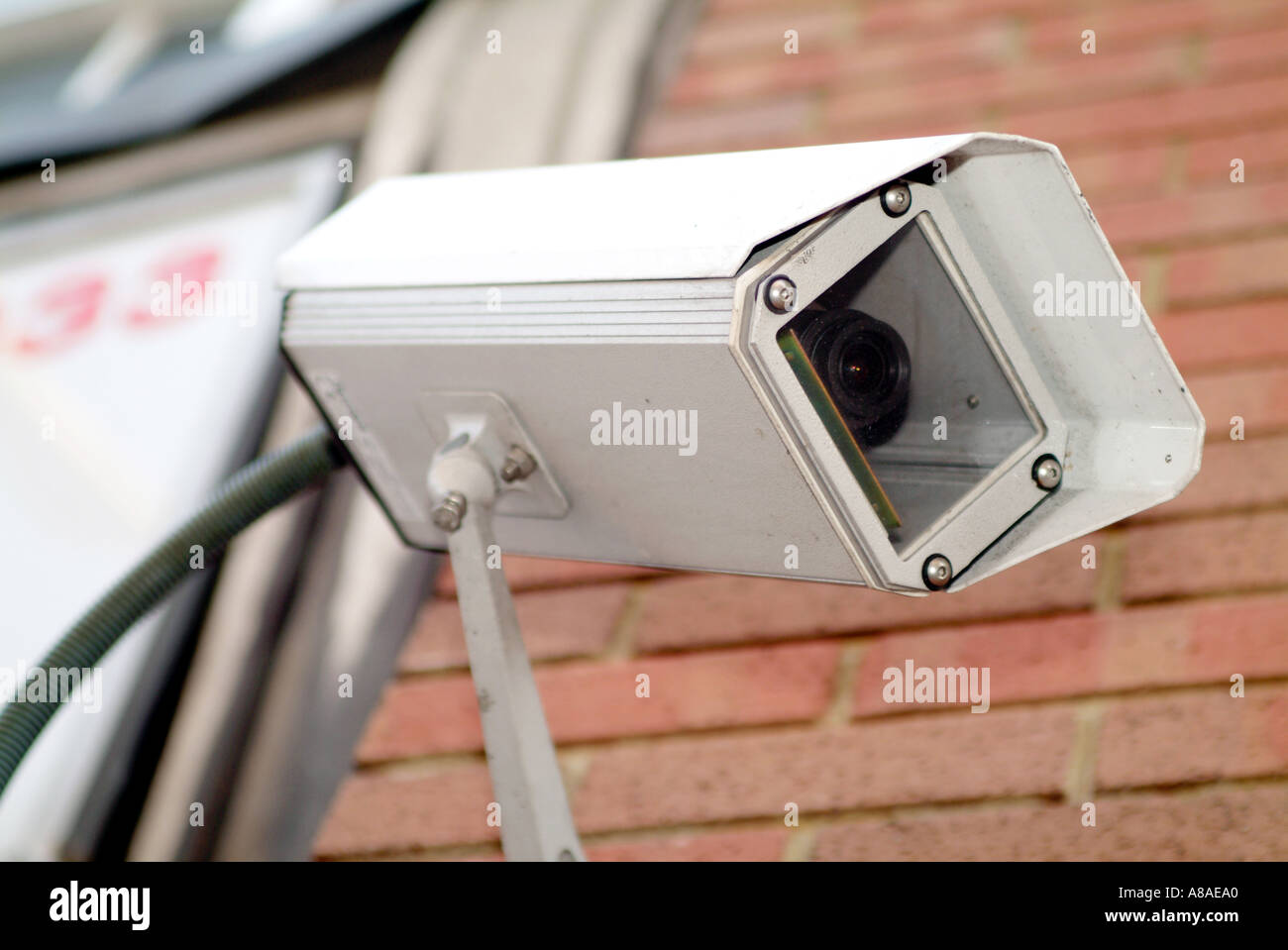 security camera watching you big brother 1984 george orwell survailance cctv closed circuit - Stock Image