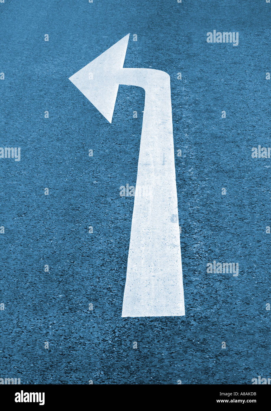 directional marker Richtungspfeil - Stock Image