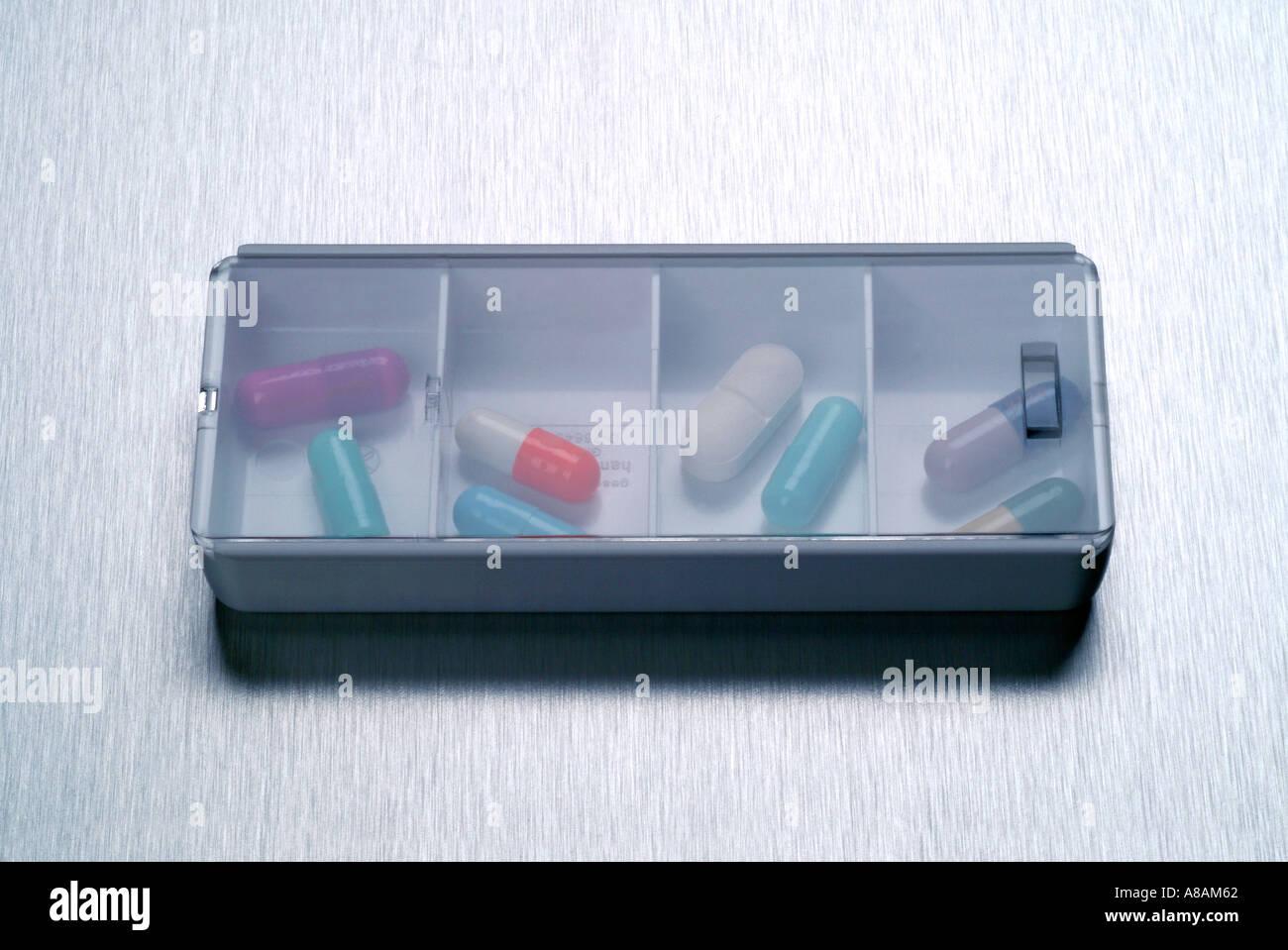 tablets Tabletten Kapseln Stock Photo