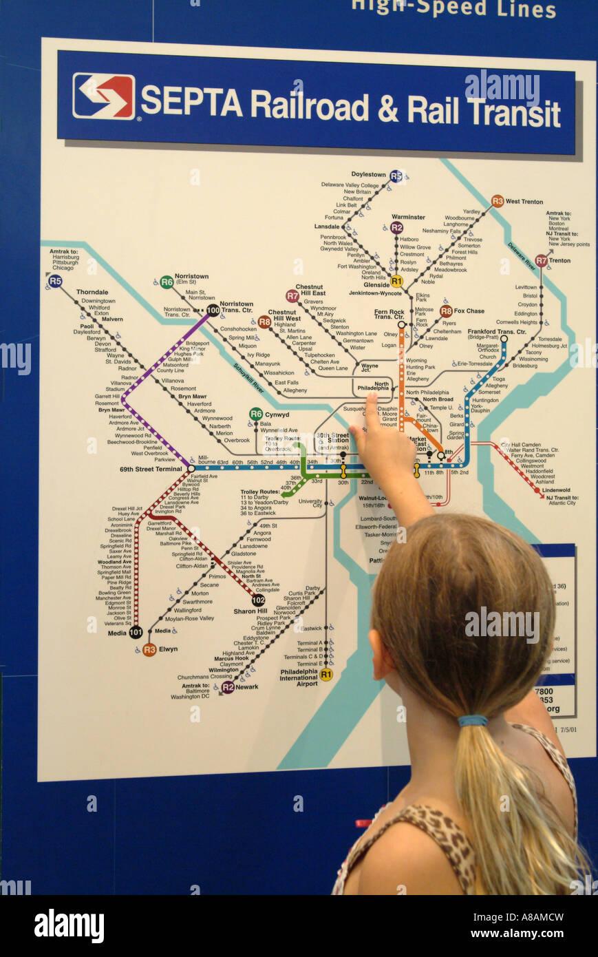 Septa Subway Map Philadelphia.Southeastern Pennsylvania Transportation Authority Septa Map Of The