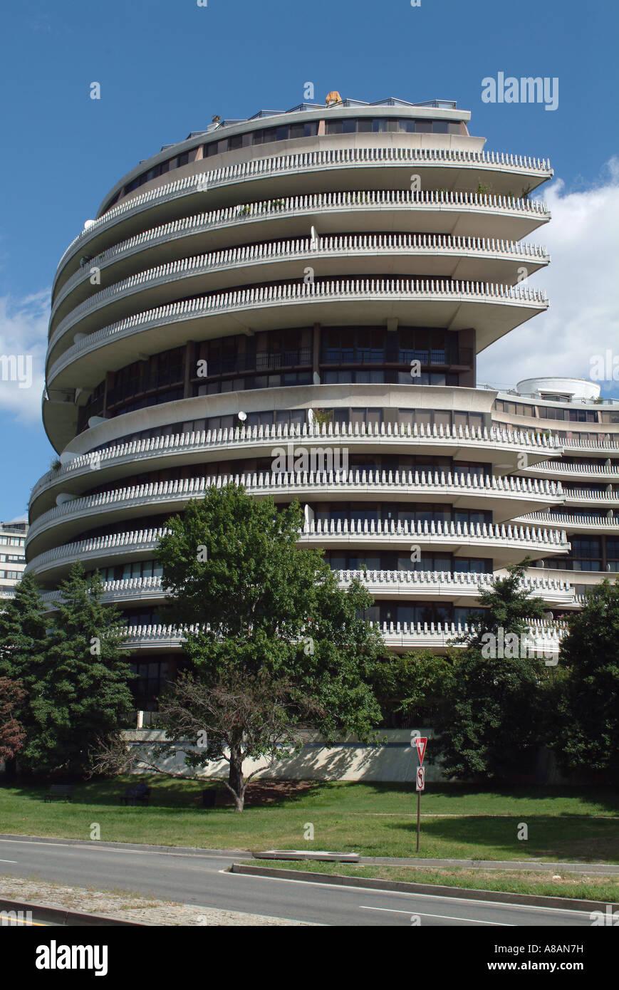 Usa Washington Dc The Watergate Apartment Building Stock Photo