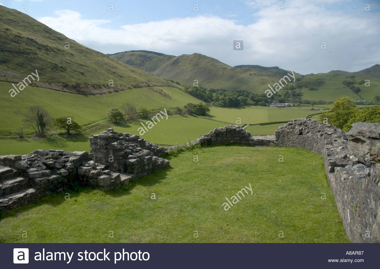 Castell Y Bere Mid Wales Llywelyn the Great 1221 1283 Captured English Slate Steps Slate,steps - Stock Image