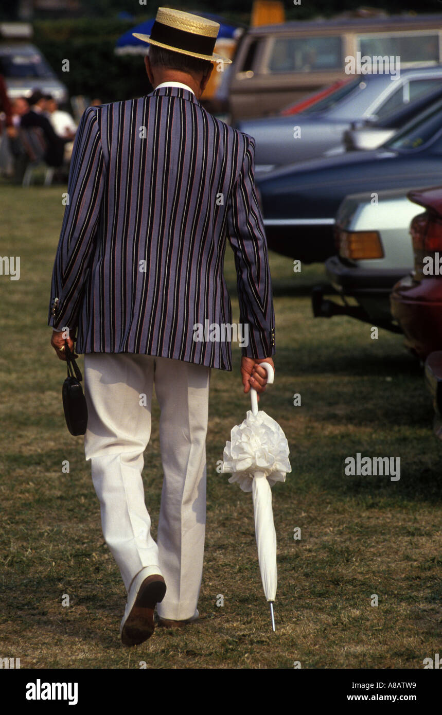 Straw boaters hat annual Henley Royal Rowing Regatta Henley on Thames Berkshire England HOMER SYKES - Stock Image
