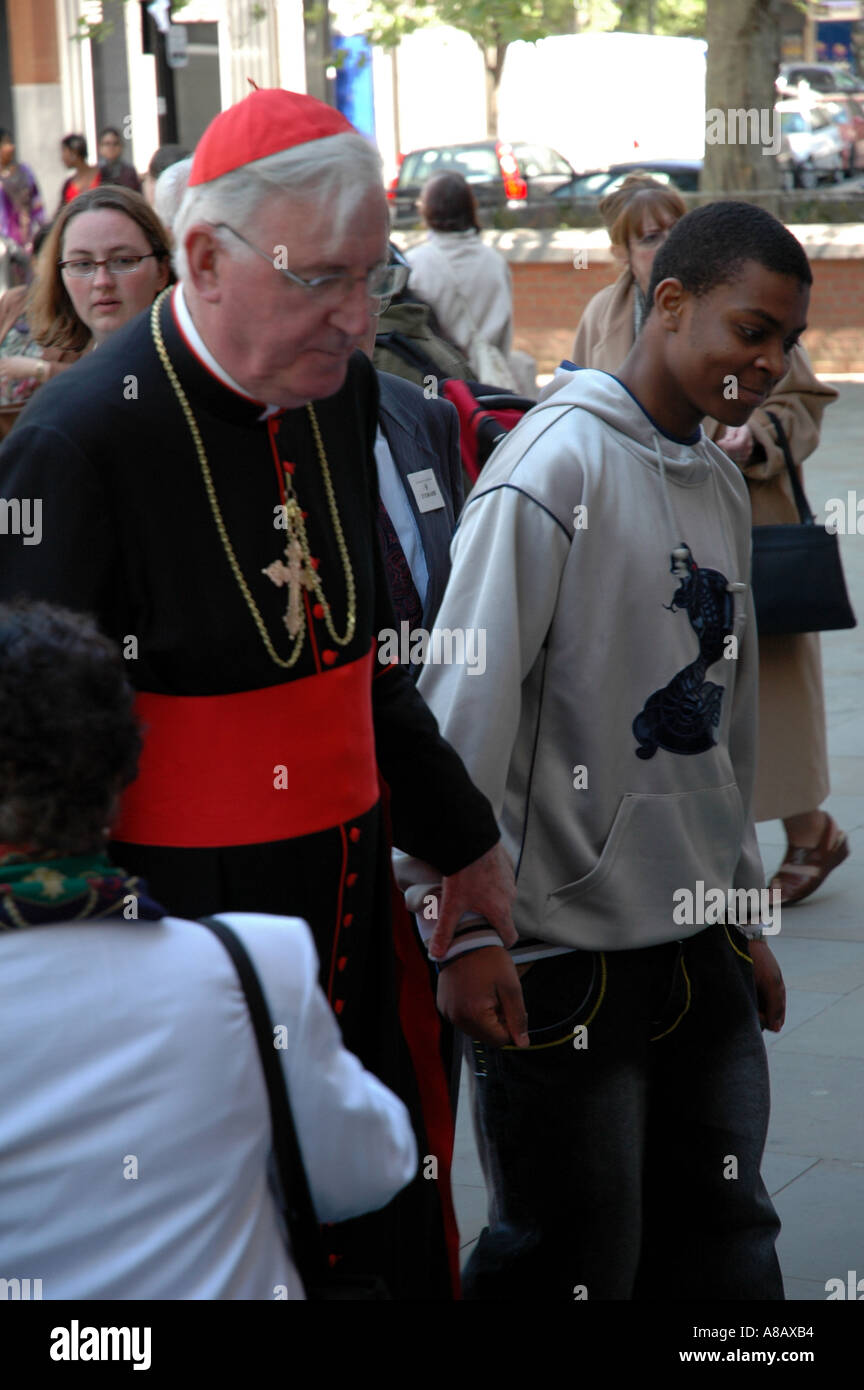 CARDINAL CORMAC MURPHY O CONNOR  EX ARCHBISHOP OF WESTMINSTER LONDON UNITED KINGDOM - Stock Image