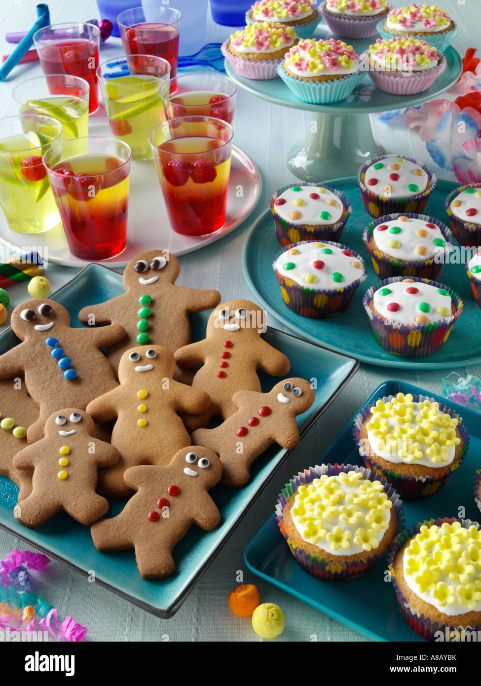 Kids party food spread editorial food - Stock Image