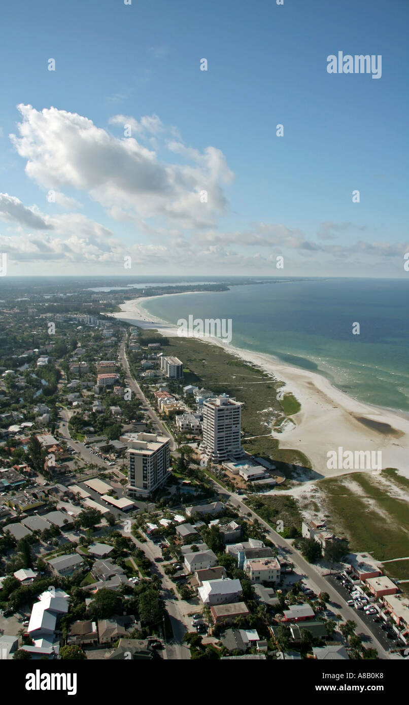 Aerial View Of Siesta Key Beach Sarasota And Crescent