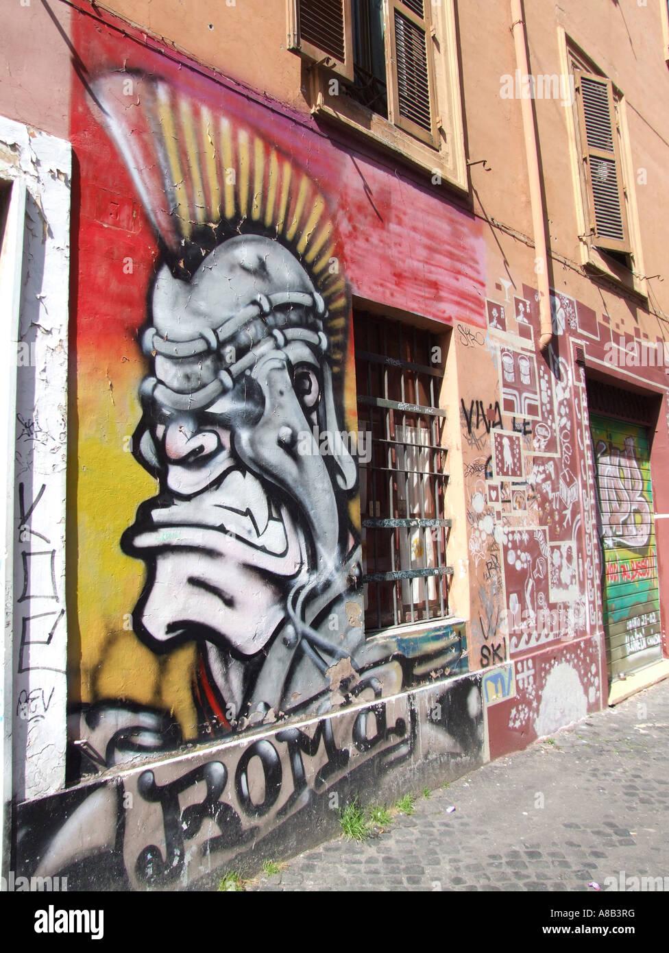 Graffiti in the san lorenzo area of rome