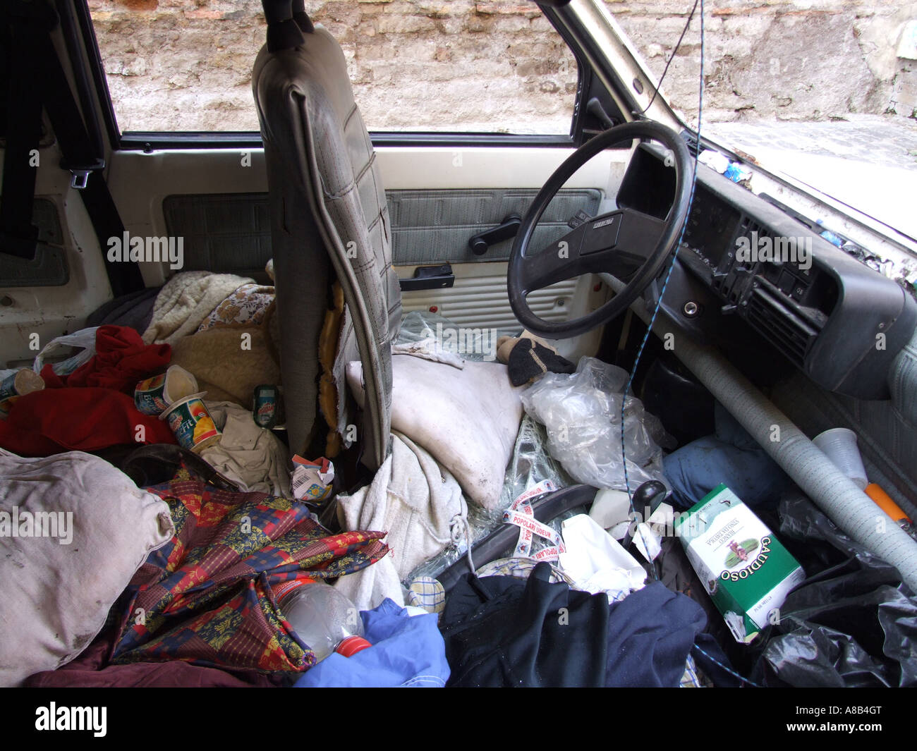 car full of rubbish stock photo 12046919 alamy. Black Bedroom Furniture Sets. Home Design Ideas